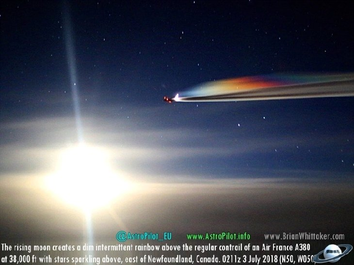 In pictures: Some strange sky phenomena captured in the last few days around the world Rainbow-plane-exhaust-sky-phenomenon-contrail-chemtrail