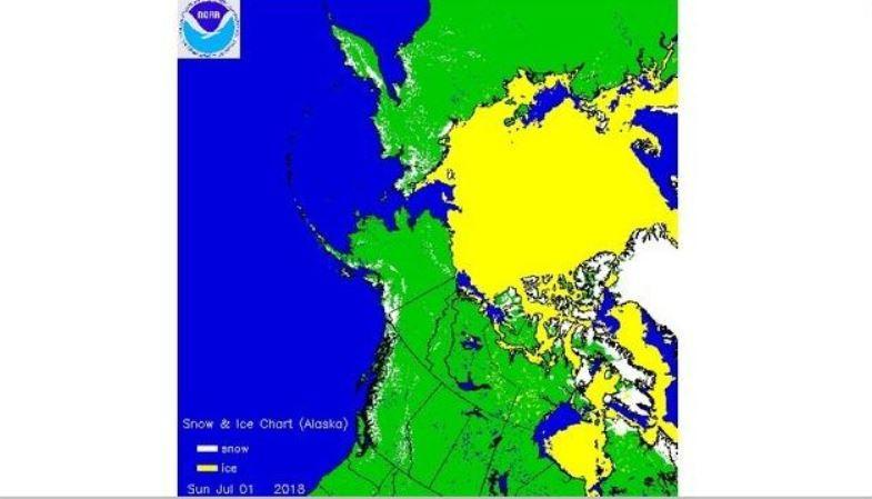snow cover canada, snow cover canada map, snow cover canada july 2018