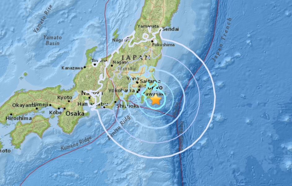 strong earthquake honshu japan july 7 2018, Strong M6.1 earthquake, downgraded to M5.9 by USGS, hit Honshu Island in Japan on July 7 2018