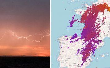 100000 lightning France, france storms, france lightning storms