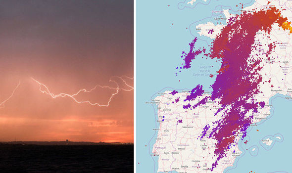 France hit by brutal thunderstorms bringing more than 100,000 lightning strikes in 12 hours  100000-lightning-France