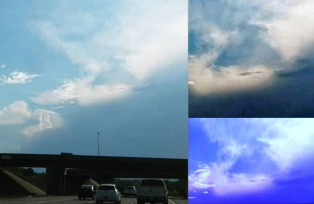 Cloaked Triangle UFO kansas City Missouri, Cloaked Triangle UFO kansas City Missouri picture, Cloaked Triangle UFO kansas City Missouri video, mysterious triangle cloud missouri, strange triangle cloud kansas city