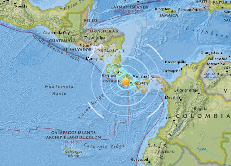 M6.1 earthquake costa rica, M6.1 earthquake costa rica video, M6.1 earthquake costa rica pictures, M6.1 earthquake costa rica august 2018