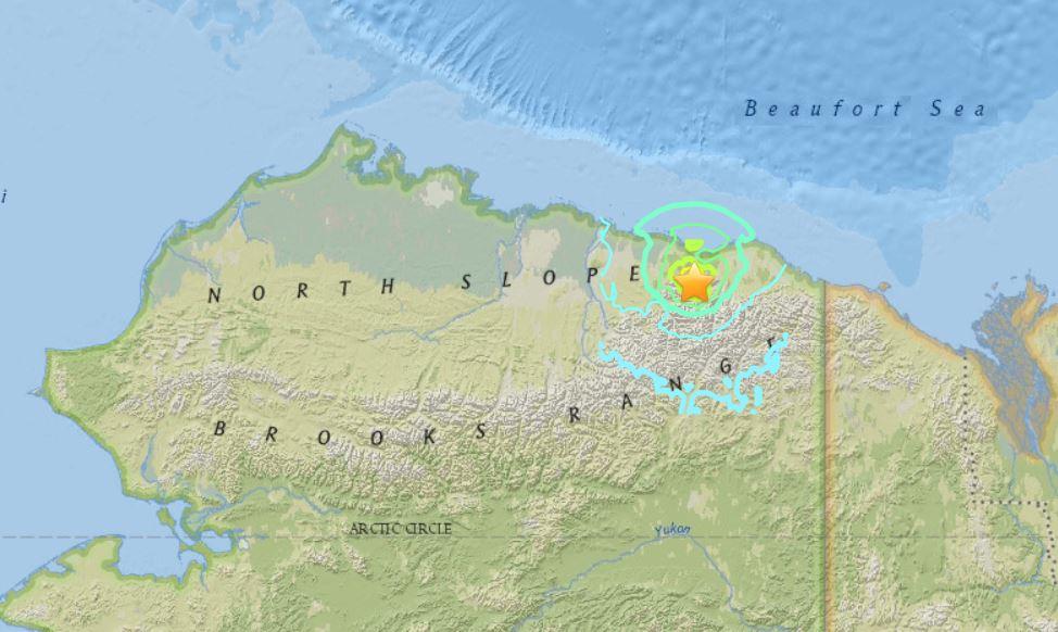 Kaktovik Alaska Map.Strongest Ever Earthquake Hits Alaska S North Slope Region As M6 4