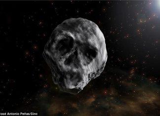 Return of skull-shaped asteroid, skull-shaped asteroid, skull-shaped asteroid november 2018