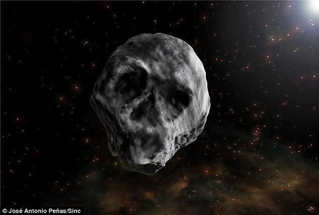 Return of skull-shaped asteroid, skull-shaped asteroid, skull-shaped asteroid november 2018