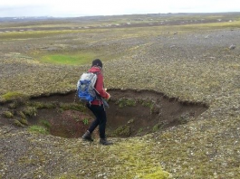 new rifts cracks and sinkholes iceland volcano