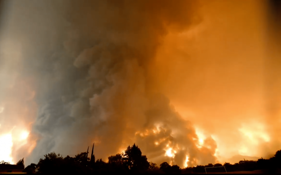 Immense EF3 Flaming Tornado Strikes Wildfire Ravaged California