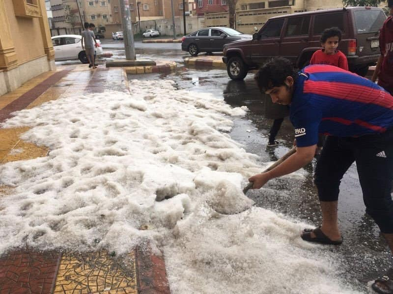 Severe hailstorm in Saudi Arabia, Severe hailstorm in Saudi Arabia video, Severe hailstorm in Saudi Arabia pictures, Severe hailstorm in Saudi Arabia august 2018