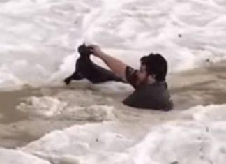 man saves cat from drowning in frozen water saudi arabia, Severe hailstorm in Saudi Arabia, Severe hailstorm in Saudi Arabia video, Severe hailstorm in Saudi Arabia pictures, Severe hailstorm in Saudi Arabia august 2018