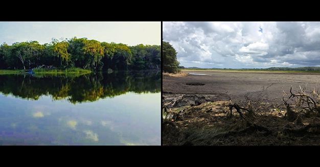 sinkholes drain lagoon in Mexico, sinkholes drain lagoon in Mexico Laguna Chakabacan, Laguna Chakabacan, sinkholes empty lagoon mexico, lagoon emptied by sinkholes mexico