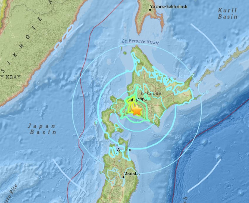 M6.6 earthquake hits Japan on September 5 2018, japan earthquake september 5 2018, powerful earthquake hits japan after typhoon Jebi