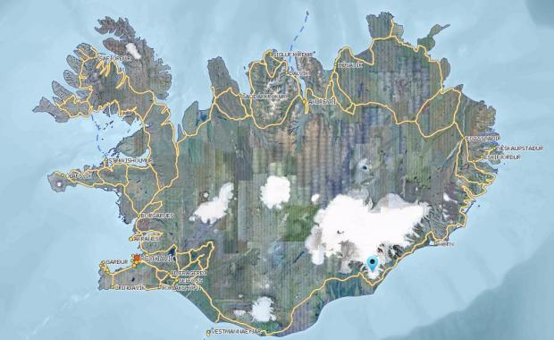 oraefajokull earthquake swarm, oraefajokull earthquake swarm september 2018, oraefajokull earthquake swarm map
