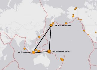 3 M6.0 earthquakes and a M7.0 earthquake hit the ring of fire october 10 2018