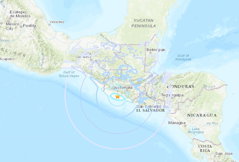 M5.7 earthquake hits near Fuego volcano in Guatemala, M5.7 earthquake hits near Fuego volcano in Guatemala map, fuego volcano eruption oct 12 2018