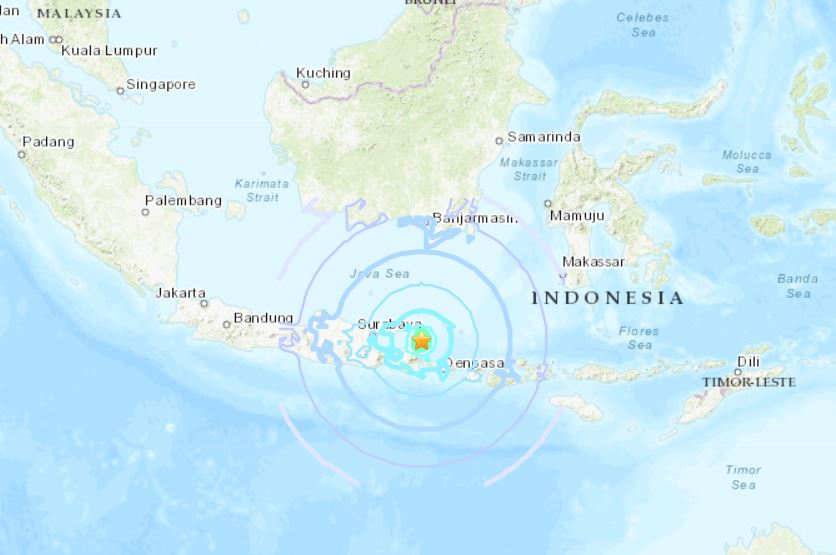 M6.0 earthquake indonesia october 10 2018, M6.0 earthquake indonesia october 10 2018 map