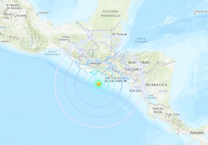 M6.1 earthquake el salvador october 28 2018, M6.1 earthquake el salvador october 28 2018 map