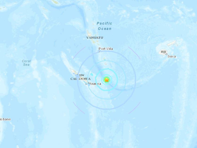 earthquake swarm new caledonia october 16 2018, earthquake swarm new caledonia october 16 2018 map, A series of earthquakes swarmed off New Caledonia on October 16 2018