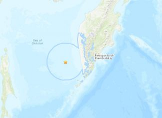 M6.7 earthquake hits off the Kamchatka Russia on October 13 2018, M6.7 earthquake hits off the Kamchatka Russia on October 13 2018 map, M6.7 earthquake hits off the Kamchatka Russia on October 13 2018 video, ebeko volcano eruption october 2018