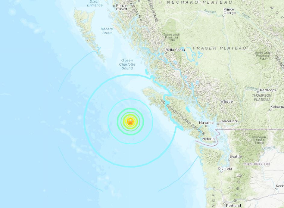 M6.5 earthquake vancouver island bc, M6.5 earthquake vancouver island bc october 22 2018, M6.5 earthquake vancouver island bc map