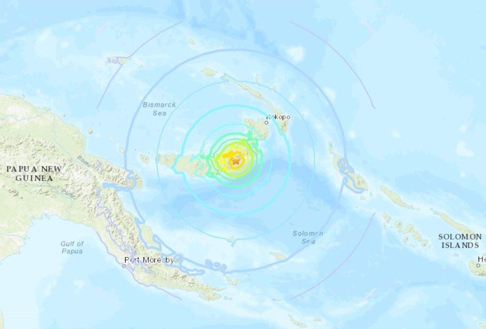 M7.0 earthquake Papua New Guinea ocotber 10 2018, M7.0 earthquake Papua New Guinea ocotber 10 2018 map