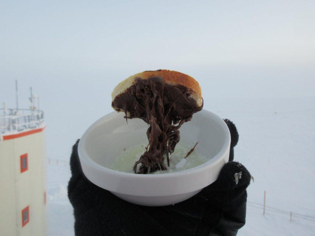 Antarctica frozen nutella toast, antarctica frozen meals