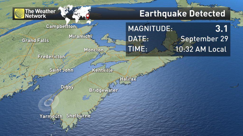 Rare earthquake hits Nova Scotia, Canada on September 30, 2018