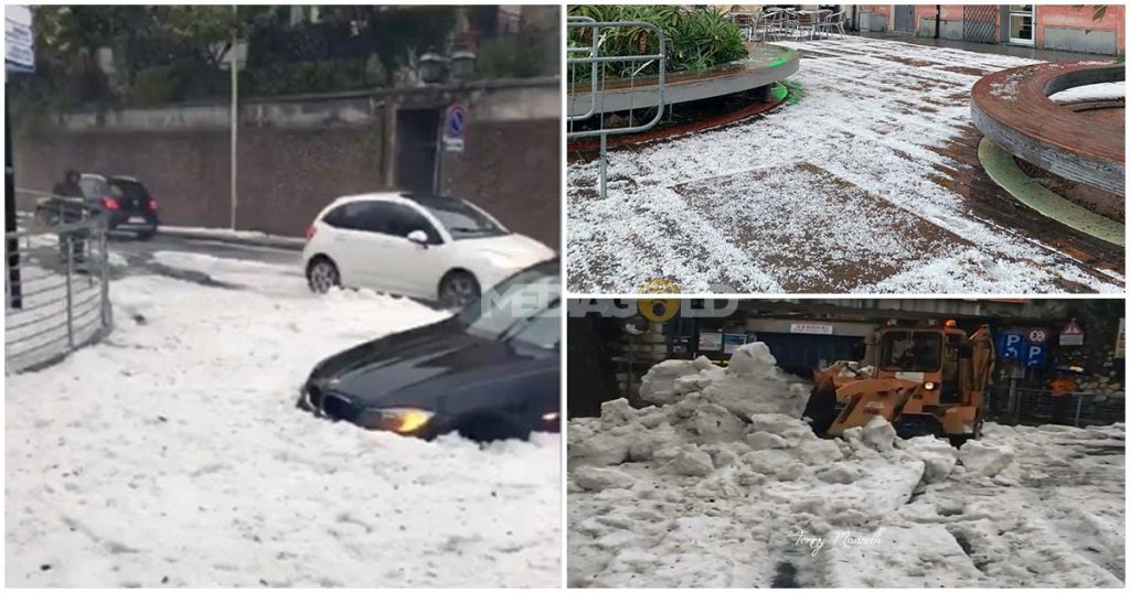 Strong hail storm Alassio Italy, Strong hail storm Alassio Italy video, Strong hail storm Alassio Italy pictures