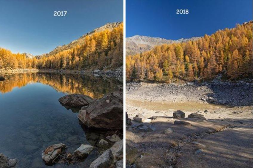 Alpine lake mysteriously disappears in Italy Lake-disappears-italy-alps-1