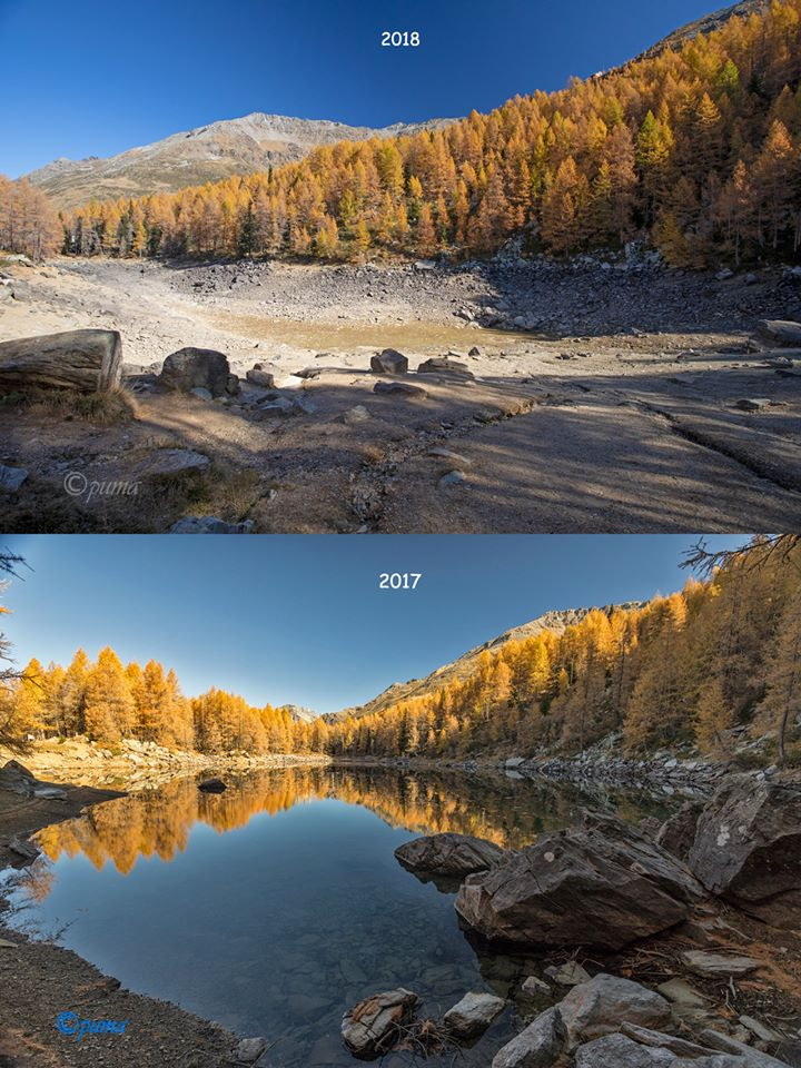 Alpine lake mysteriously disappears in Italy Lake-disappears-italy-alps