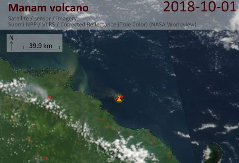 manam volcano eruption, manam volcano eruption picture, manam volcano eruption october 2018