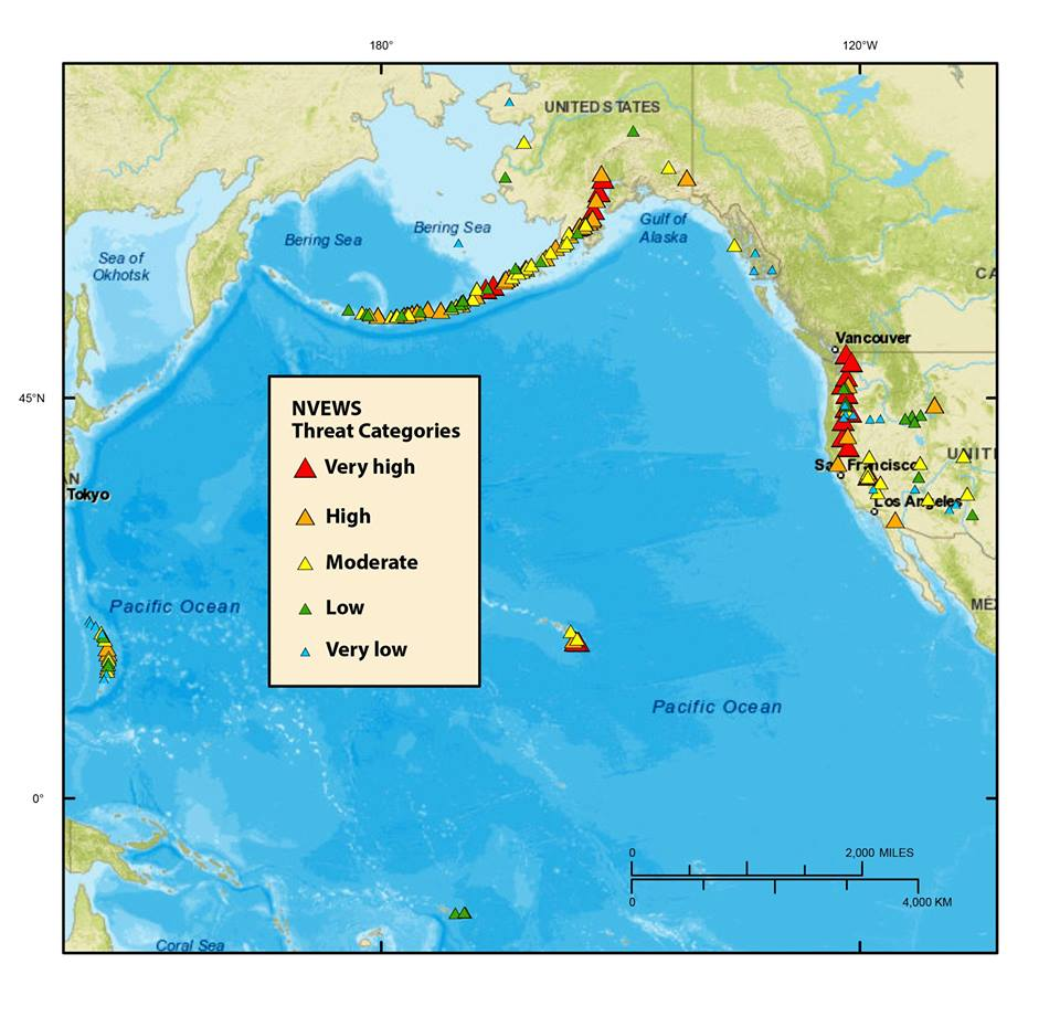 volcanoes in the US map, us volcanoes, most dangerous volcanoes usa, most dangerous volcanic eruption usa, us volcanic eruption