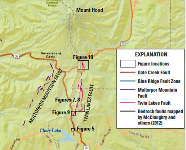 mount hood earthquake risk, new fault lines discovered under mount hood, mount hood new fault lines