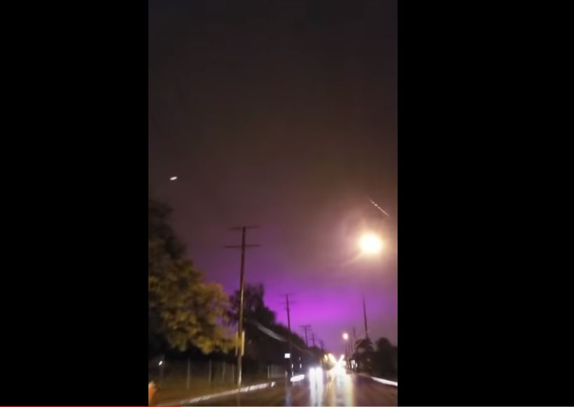 purple sky cleveland ohio florida michael, Purple sky over Cleveland as Hurricane Michael engulfed Florida, Purple sky over Cleveland video, Purple sky over Cleveland ohio video, Purple sky over Cleveland florida video