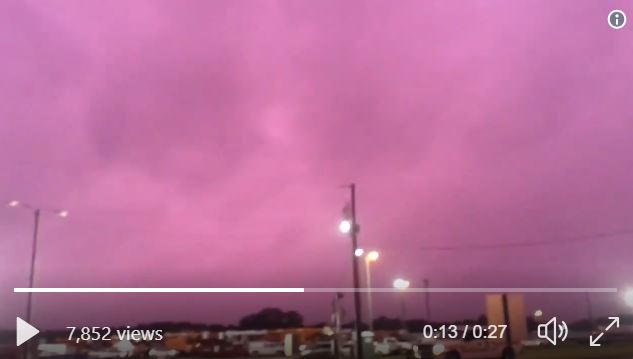 purple sky cleveland ohio florida michael, Purple sky over Cleveland as Hurricane Michael engulfed Florida, Purple sky over Cleveland video, Purple sky over Cleveland ohio video, Purple sky over Cleveland florida video