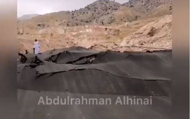 strange geological event in Oman, strange geological event in Oman video, strange geological event in Oman photo