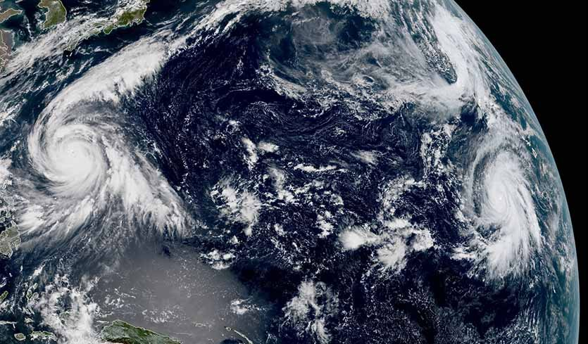 Simultaneous Cat 5 hurricanes, twin category 5 hurricanes october 2018, twin category 5 hurricanes october 2018 first time ever