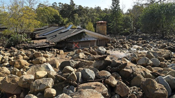 debris flow montecito, fire-flood california, california natural disaster