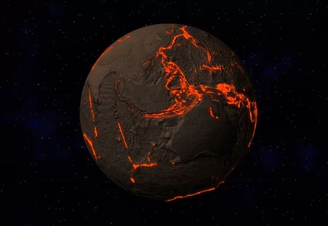 earth swallows up its oceans, The earth is swallowing up its own oceans