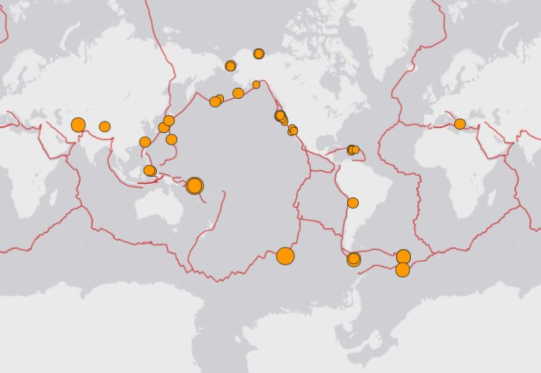 earthquake around the world map november 16 2018, map earthquake around the world map november 16 2018