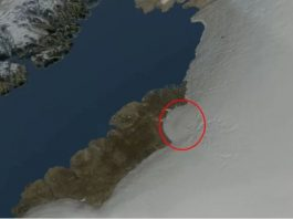 Discovery of a large impact crater hidden beneath Greenland ice, giant impact crater discovered under greenland ice, greenland impact crater discovery