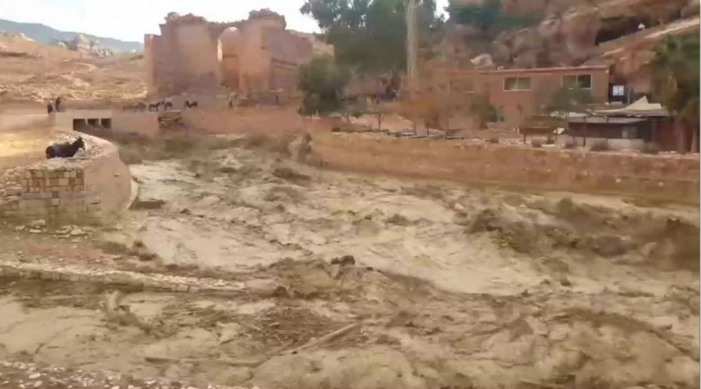 petra flash floods, petra flash floods video, petra flash floods picture, Ancient city of Petra hit by insane flash floods killing at least 12 in Jordan