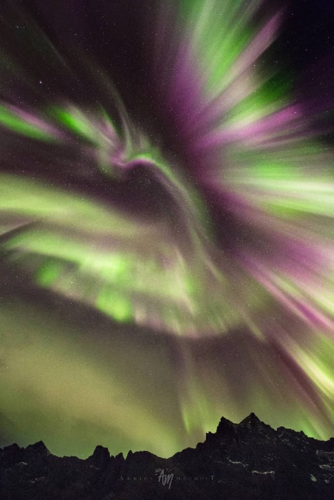 phoenix aurora norway, phoenix aurora norway picture, Phoenix in the sky over Norway