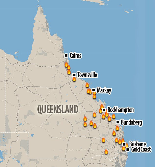 "Australia Wildfires - Calling it an ""Unprecedented Event"" as it stretches OVER 500 miles! Queensland-australia-fire"