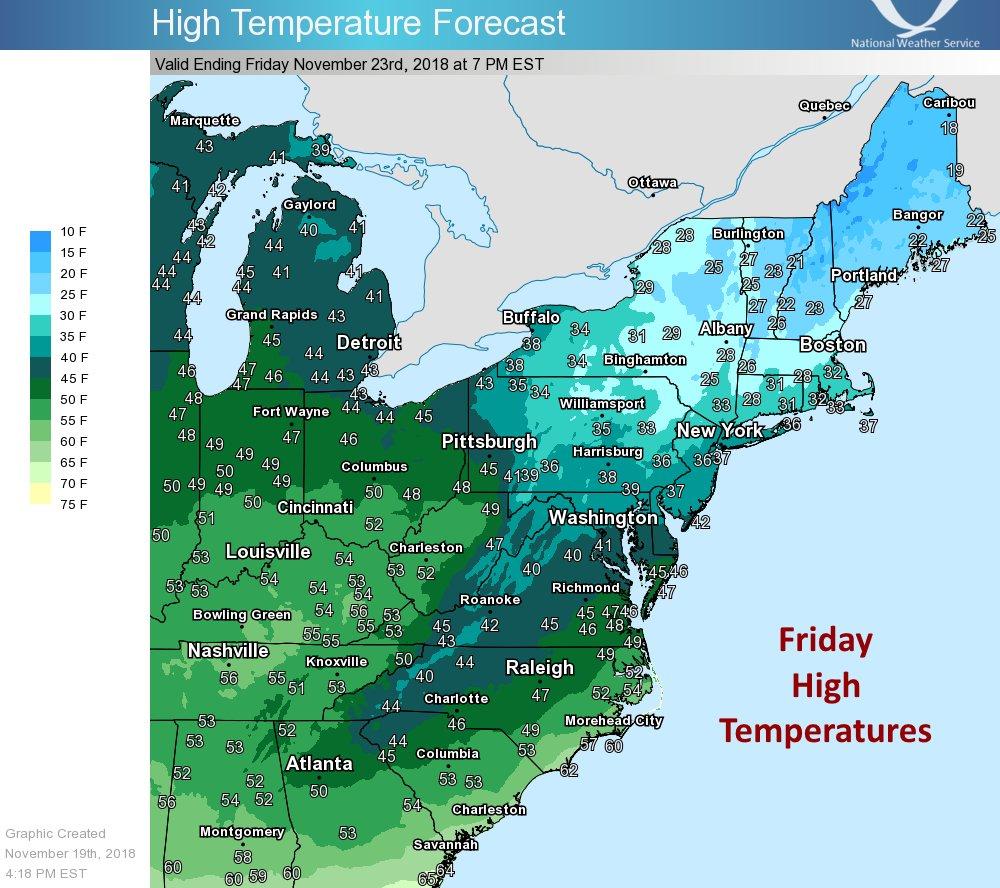 thanksgiving low temperatures usa, thanksgiving low temperatures usa map