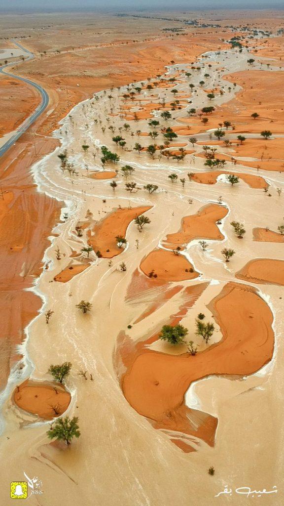 saudi arabia desert sea, saudi arabia flash floods, brutal flooding saudi arabia, desert flooded saudi arabia video, desert flooded saudi arabia pictures