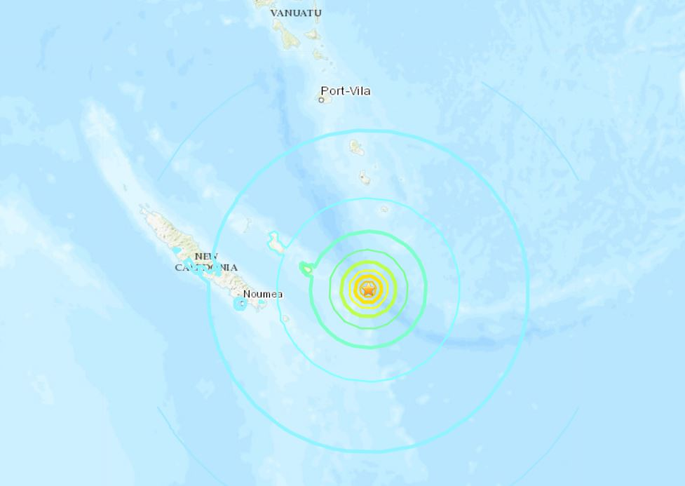 M6.6 earthquake hits off New Caledonia on December 5 2018, earthquake new caledonia december 5 2018, earthquake new caledonia december 5 2018 map