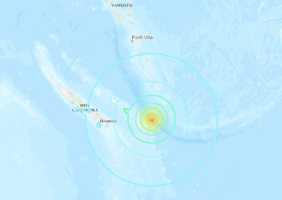 M6.6 earthquake hits off New Caledonia on December 5 2018, earthquake new caledonia december 5 2018, earthquake new caledonia december 5 2018 map