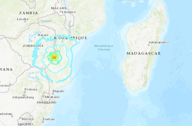 rare earthquake zimbabwe mozambique africa, earthquake zimbabwe mozambique africa zimbabwe, earthquake zimbabwe mozambique africa december 2018