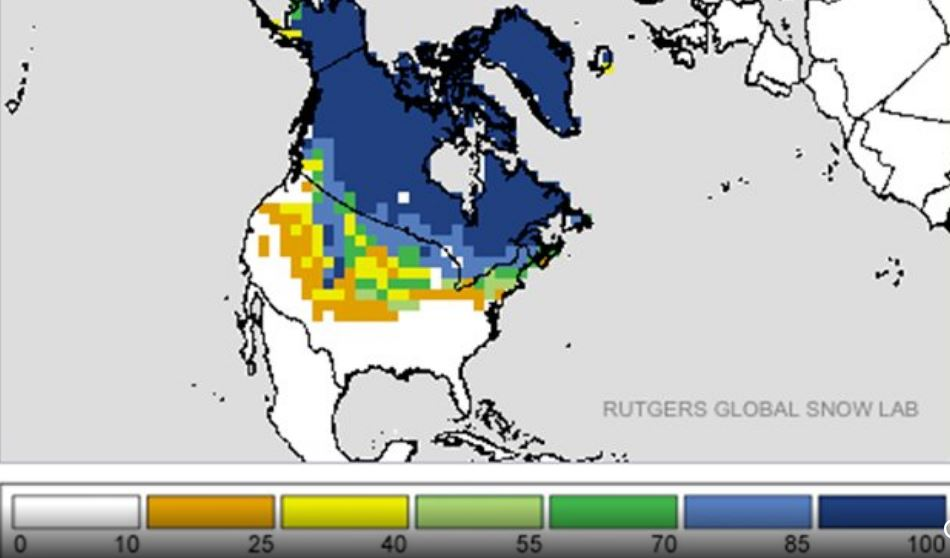 snow cover north america november 2018 record, record breaking snow for the united states in november 2018, snow record usa november 2018